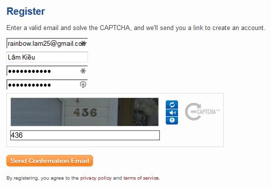 Đăng ký tài khoảng StackExchange OpenID