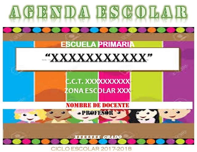 Agenda escolar calendario 185 dias en Word editable