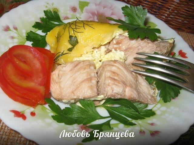 лососевая рыба запеченная под сыром