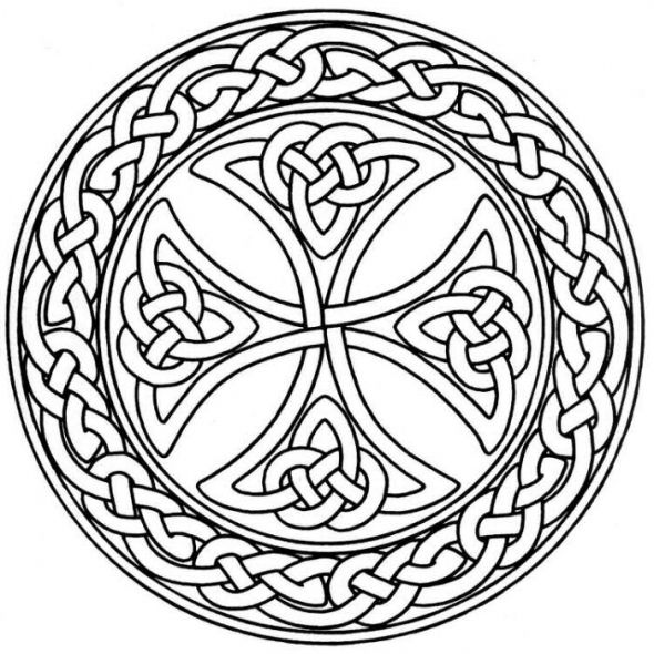 free celtic coloring pages | MANDALA COLORING PAGES: CELTIC MANDALA COLORING PAGES FOR ...