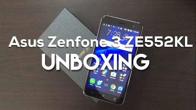 Asus Zenfone 3 ZE552KL Unboxing and Initial Set-up