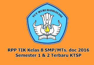 DOC 2016 - RPP TIK KELAS 8 SMP/MTS SEMESTER 1 & 2 TERBARU KTSP