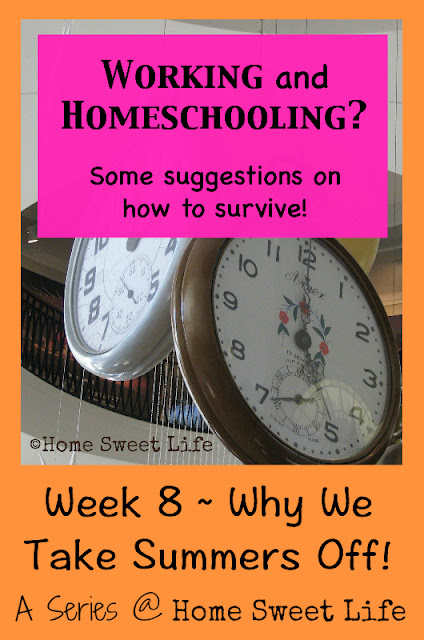 working and homeschooling, summer vacation, homeschool breaks