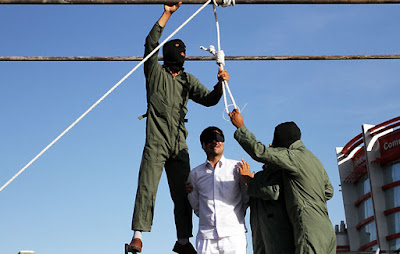 Barbaric and medieval: Public hanging in Mashhad, Iran, on May 17, 2016