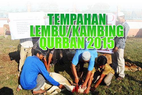 Tempahan Lembu/Kambing Qurban 2015