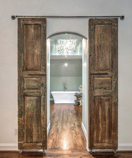 desain pintu kamar mandi kuno
