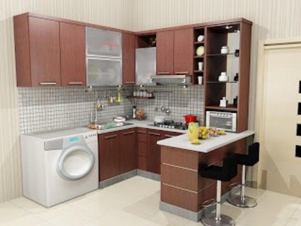 kitchen set dengan mesin cuci 3