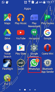 ايقونة برنامج واتس اب على الجوال whatsapp icon on mobile