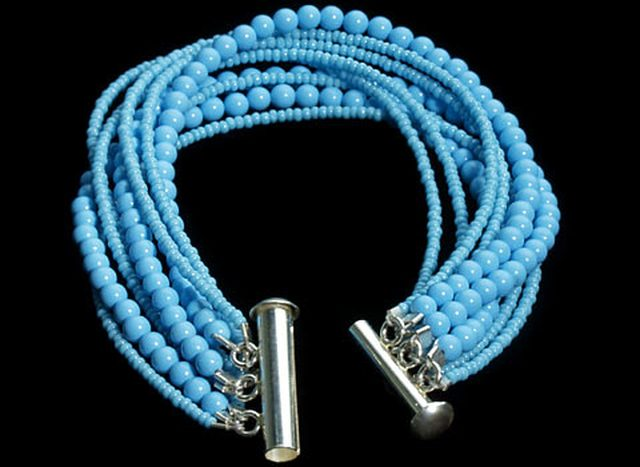 Turquoise Seedbead Bracelet