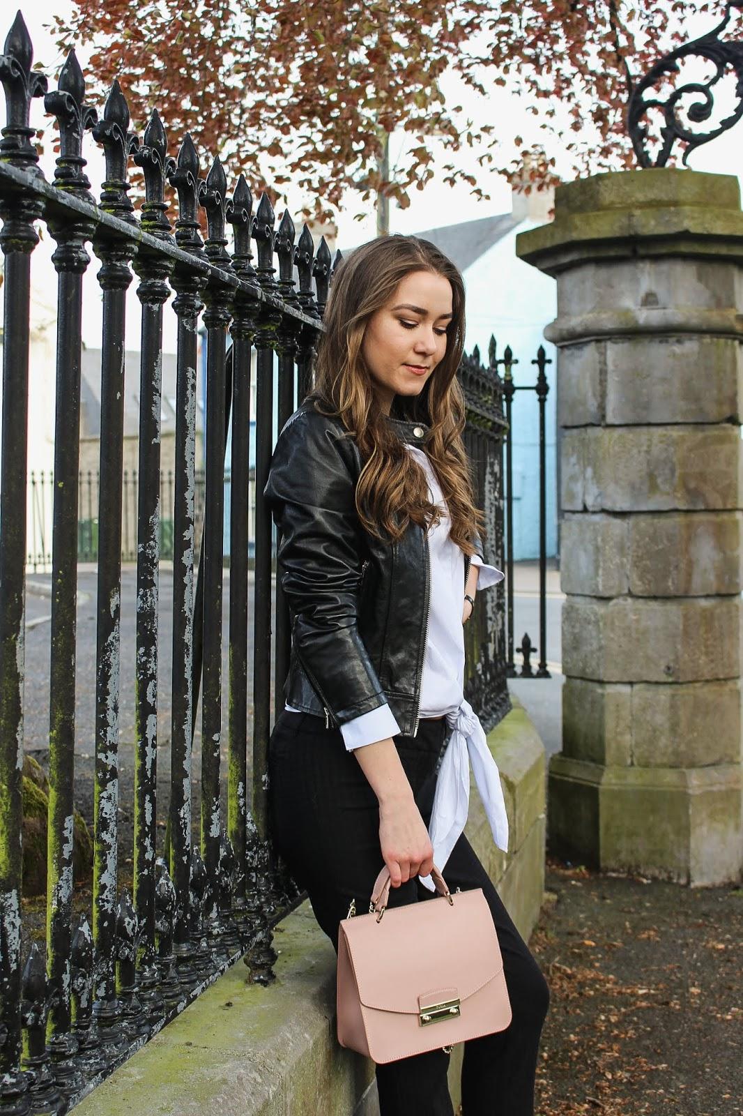 71e7880cc890 Shirt    NA-KD Bag    Furla Watch    Balmain Shoes    BCBG Max Azria