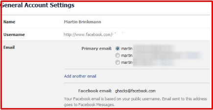 how change email on facebook