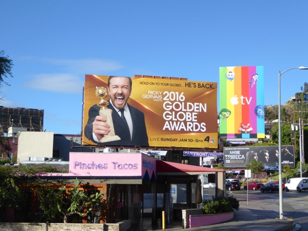 2016 Golden Globe Awards billboard Sunset Strip