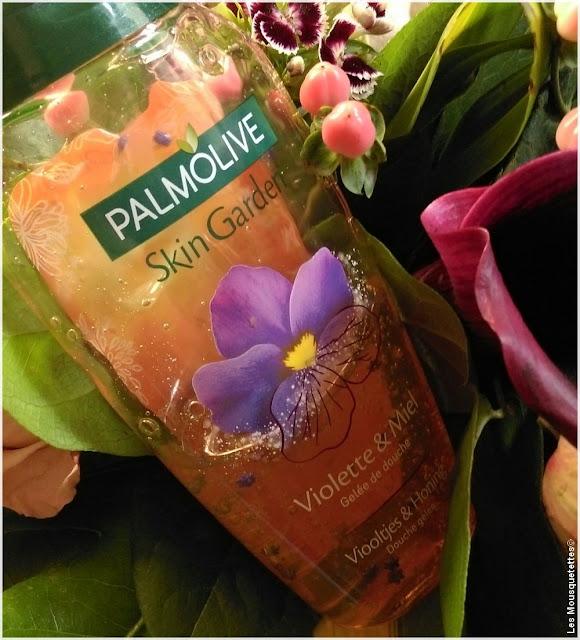Palmolive skin garden violette et miel - Blog beauté Les Mousquetettes©
