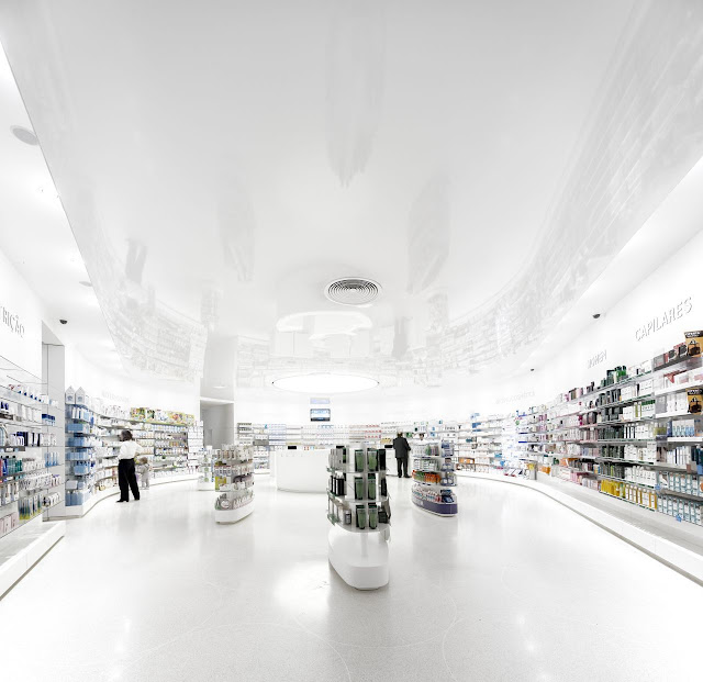 Picture of minimalist interiors in the pharmacy building