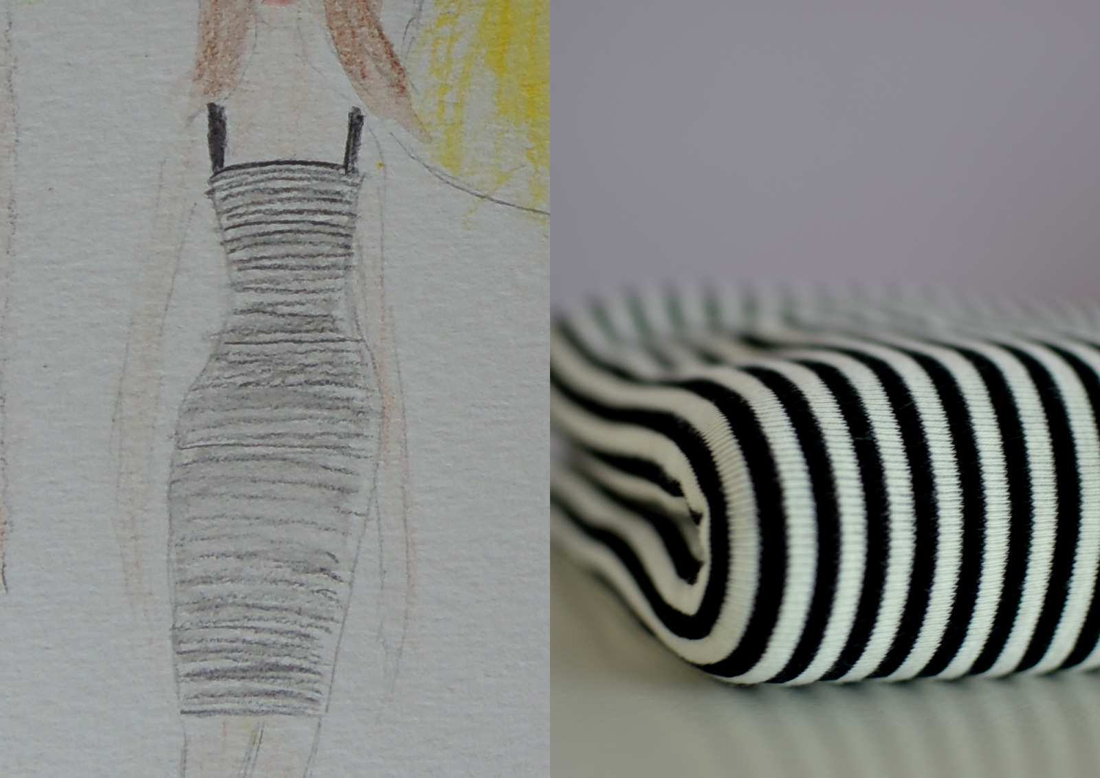 tailoring / DIY:  striped bodycon dress