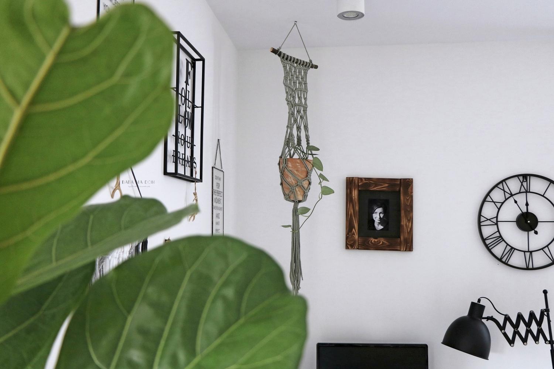 DIY, zrób to sam, doityourself, kwietnik, sznurek, rośliny, salon, featured, makrama, baba ma dom, babamadom,