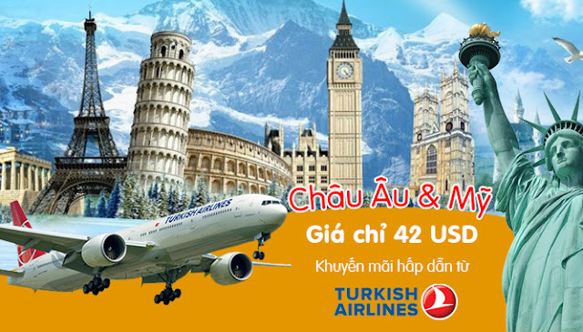 Chương trình khuyến mãi vé máy bay giá rẻ của hãng Turkish Airlines