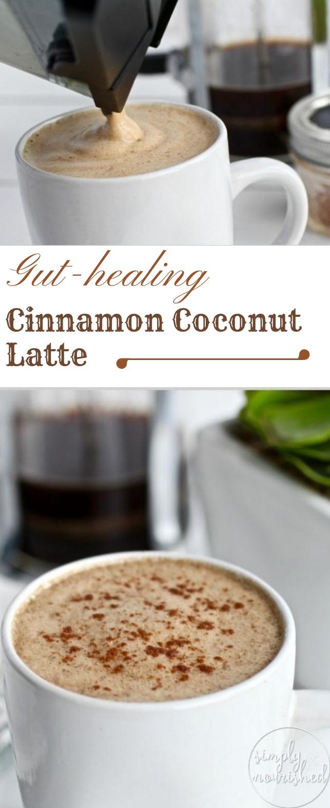 Gut-healing Cinnamon Coconut Latte #drink #delicious