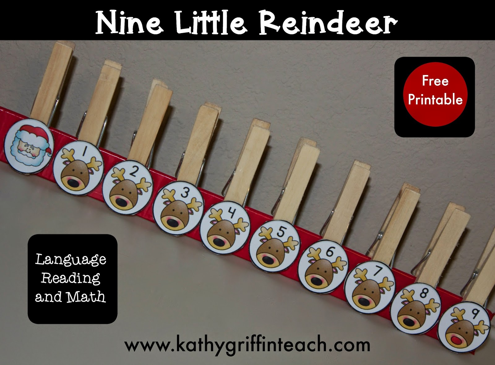 Kathy Griffin S Teaching Strategies Christmas Reindeer