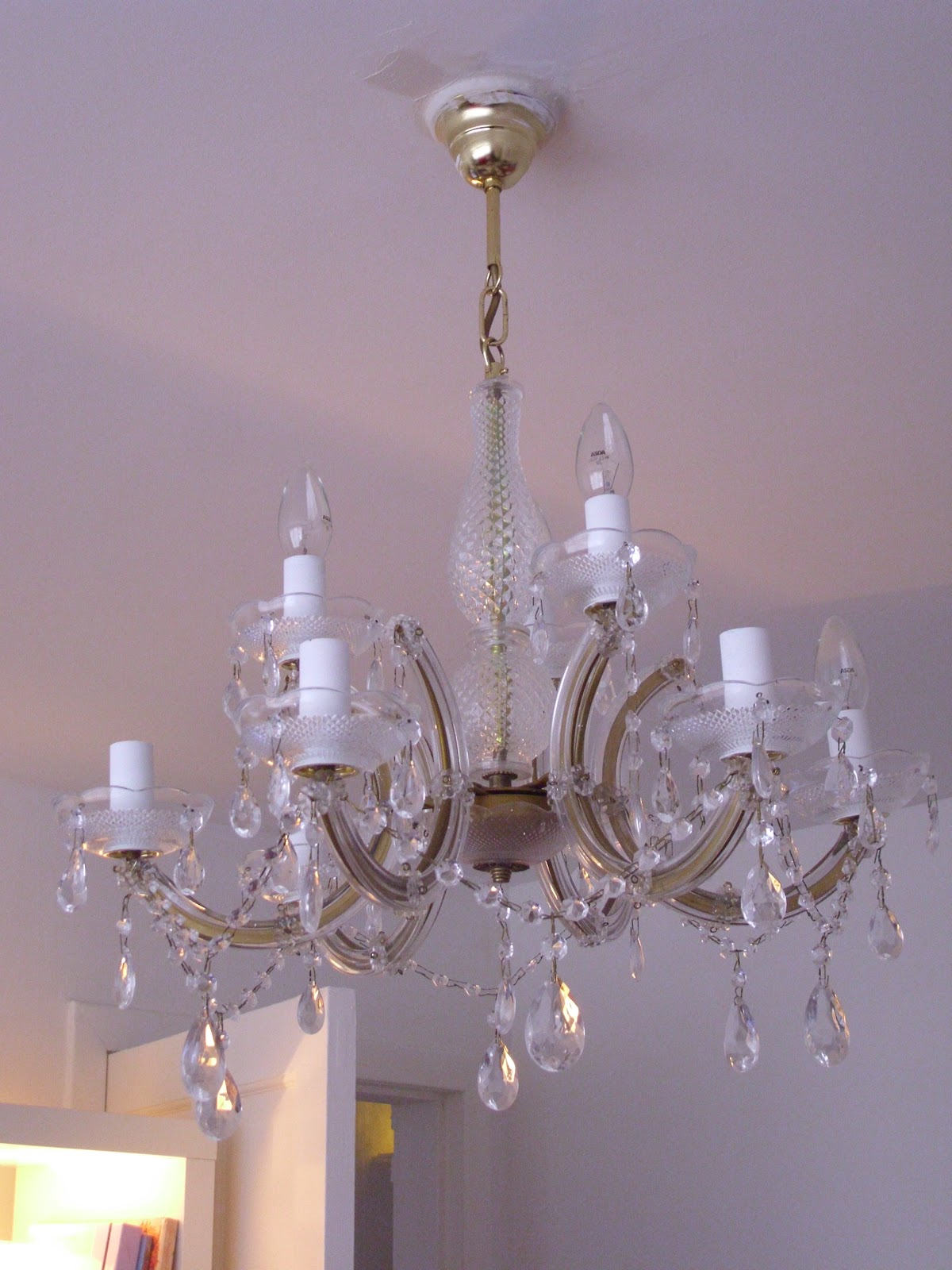 80s chandelier another rescue from the skip i fell in love with this instantly as to be expected with modern marie therese chandeliers the arms are clad in perspex but aloadofball Choice Image