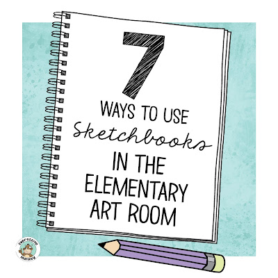 """data-pin-description=""""Expressive Monkey shares - Why I started using sketchbooks in my elementary art classroom, 7 ways I used sketchbooks, and benefits students got from using them. Plus a few tips for getting started, making sketchbooks and keeping sketchbooks organized."""""""