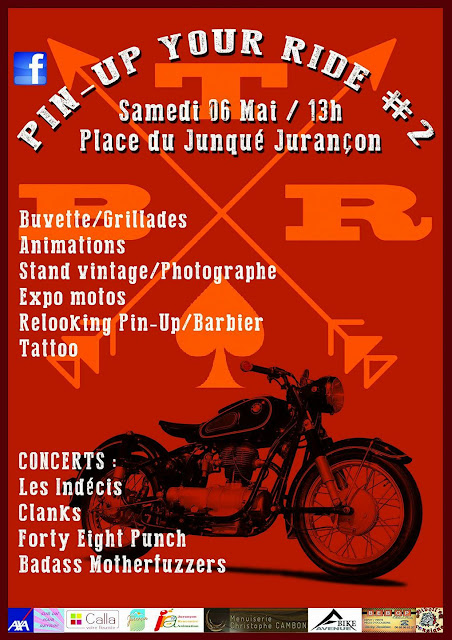 Pin Up Your Ride 2017 rassemblement de motos vintage à Jurançon