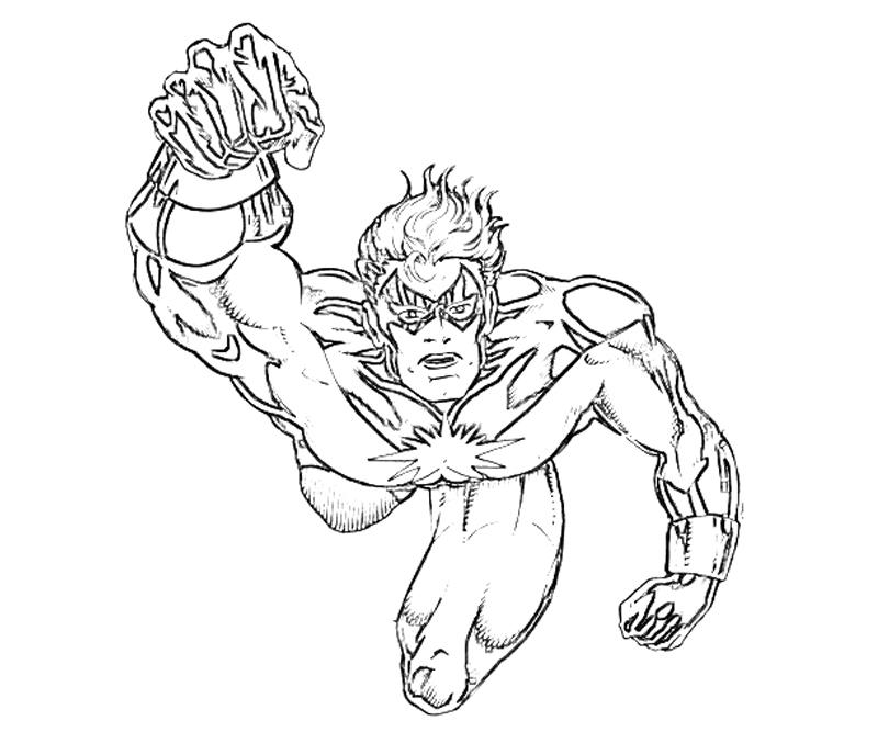 captain marvel coloring pages - photo#27