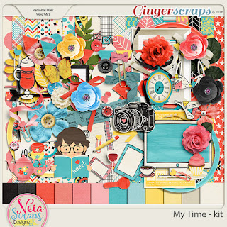 Ginger Scraps August 2017 Template Challenge 2 My Time Collection Neia Scraps Free Template