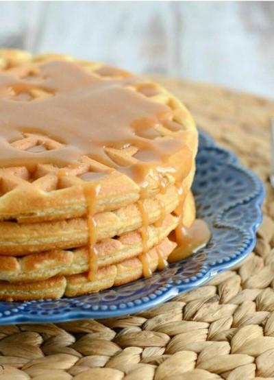 12. Waffle selai kacang