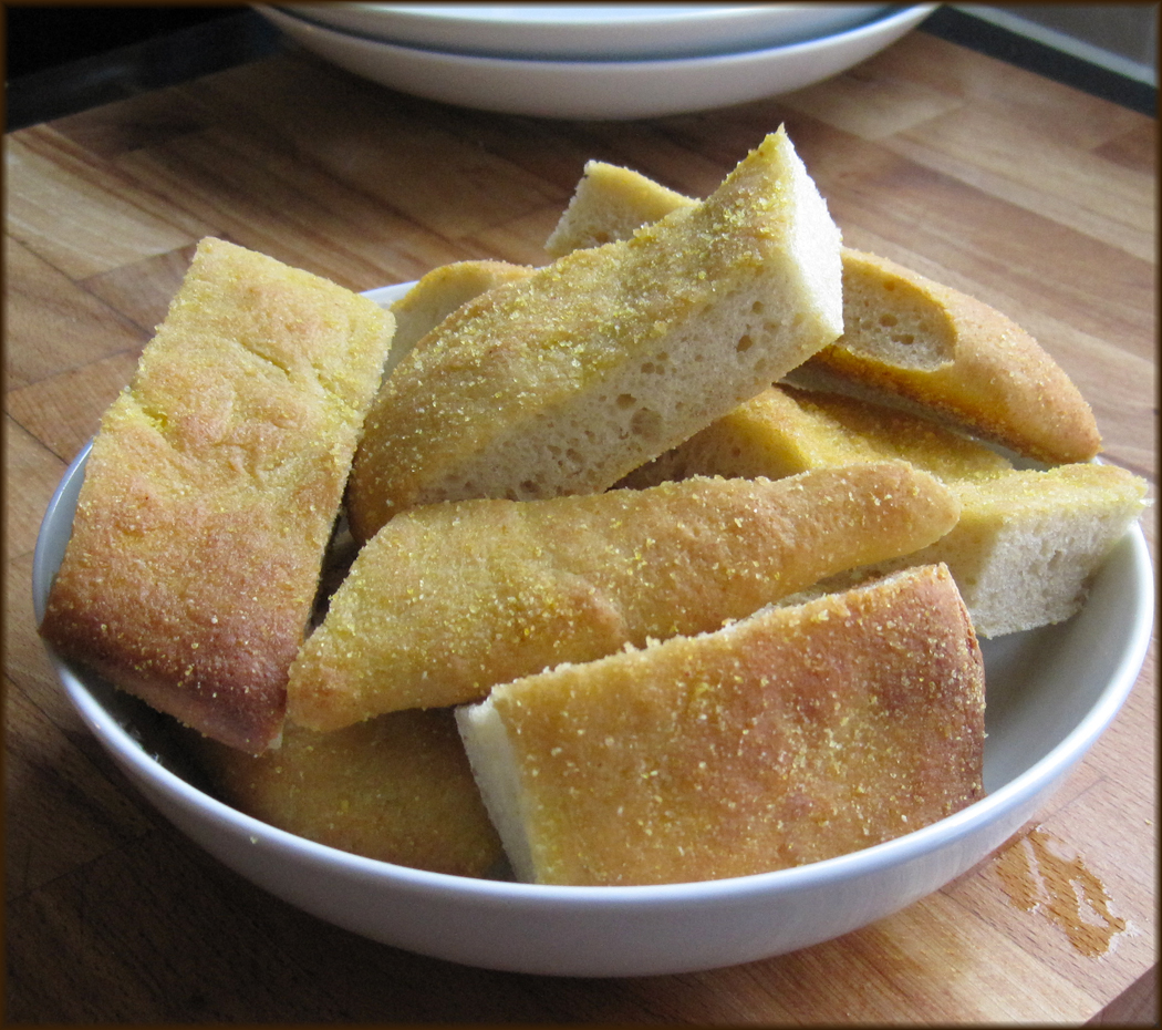 Polenta Crusted Flatbread