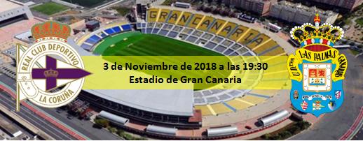 Previa UD Las Palmas - RC Deportivo 19:30 del 3 Noviembre 2018