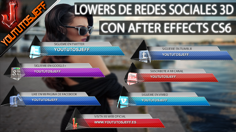 Lowers de redes sociales en 3D con after effects CS6