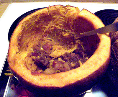 Pumpkin with Just a Little Stew Left
