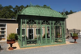 Large Garden Green House Or Conservatory Cast Iron Construction E