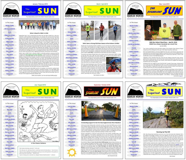 collage of covers of all the 2018 issues of The Sugarloaf Sun