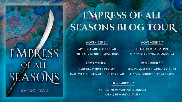 Empress of All Seasons Blog Tour Evite