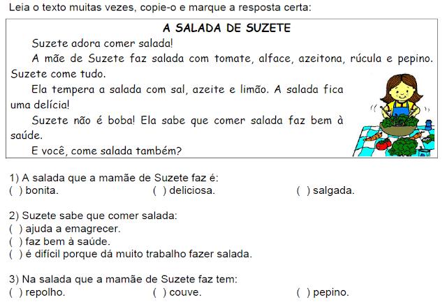 Texto A SALADA DE SUZETE