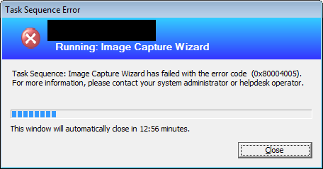 SCCM capture of Windows 8 fails during Sysprep stage - Fatal error occurred while trying to sysprep the machine 1