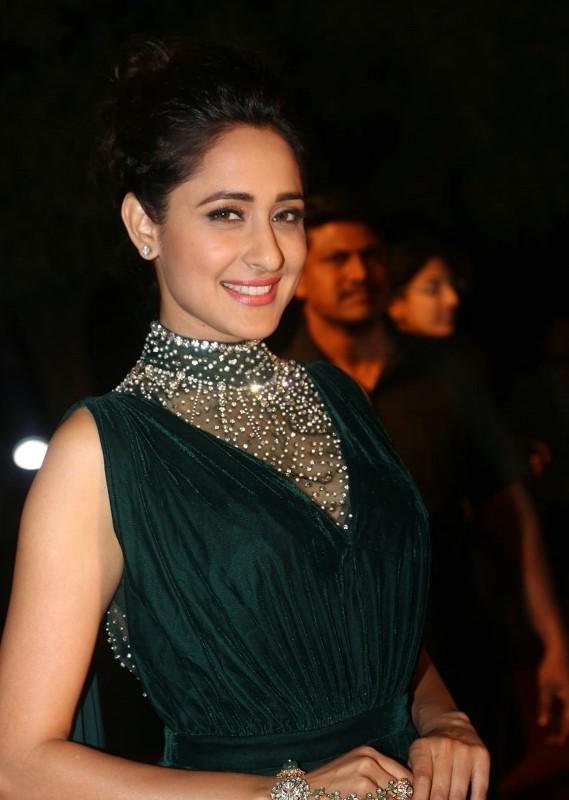 Actress At TV Awards In Green Dress Pragya Jaiswal