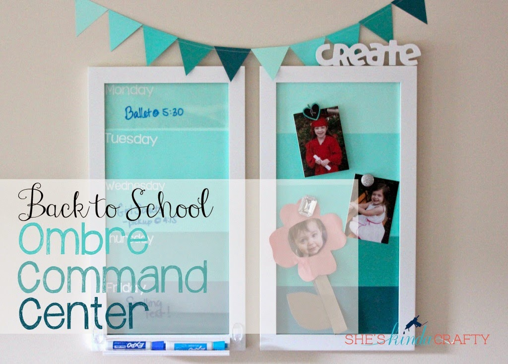 Back To School With Michaels Ombre Command Center Shes Crafty
