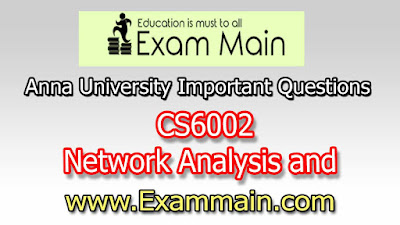 CS6002 Network Analysis and Management