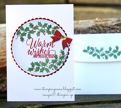 Christmas Card Club - Stampin Up Holly Berry Festive Foliage