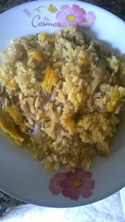 arroz al curry vegano