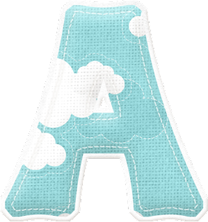 Alfabeto Celeste con Nubes.