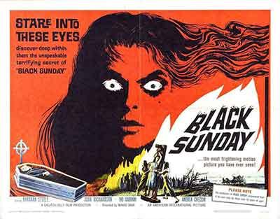 Cartel de La Máscara del demonio 1960, una de las mejores películas de Mario Bava.