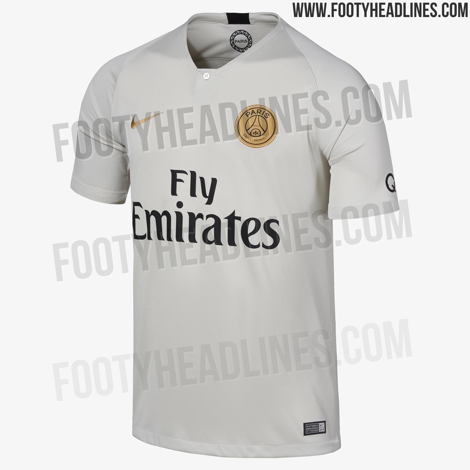 40259dc74 OFFICIAL Pictures  Paris Saint-Germain 18-19 Away Kit Leaked ...