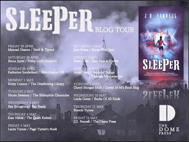 """Blog Tour & Book Review: """"Sleeper"""" by J.D. Fennell"""