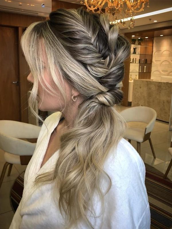 penteado lateral festa 2018