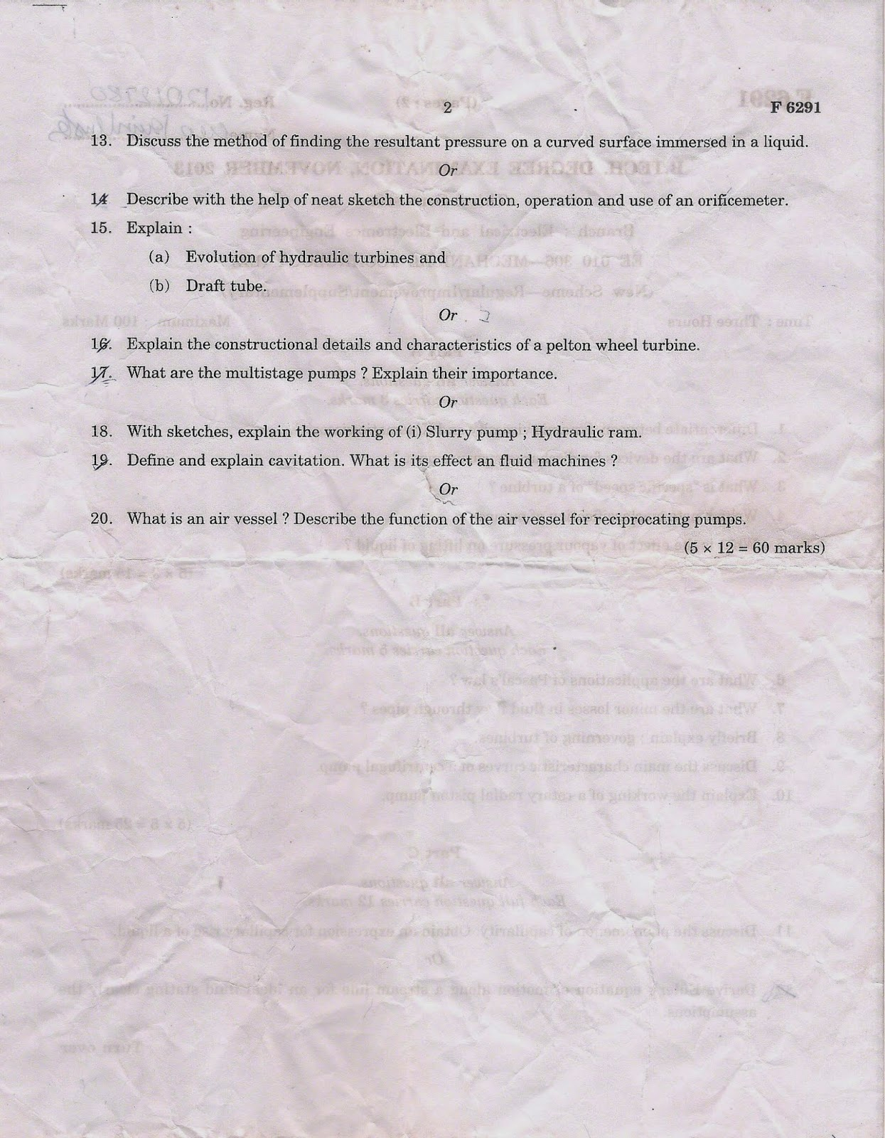 M.G University Question Papers B.Tech