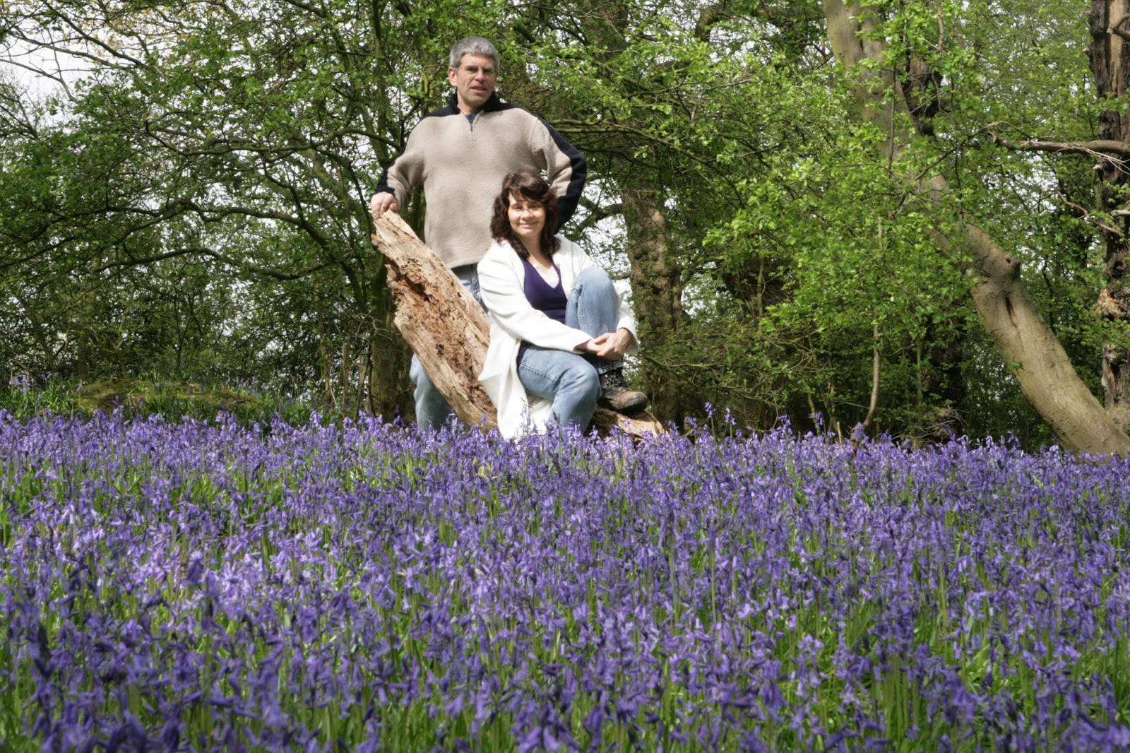 An image from 20 years ago when Is This Mutton blogger Gail Hanlon and husband first took photos in a secret bluebell wood
